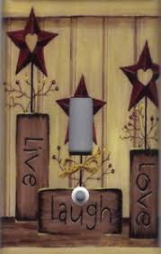 Country Star Home Decor Country Barn Star Live Love Laugh Home Wall Decor Light Switch