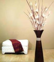 Decorative Sticks For Floor Vases Modern Black Floor Vase With Greenery And Branchesdecorative Vases