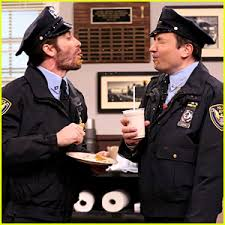 jake gyllenhaal u0026 jimmy fallon spit food at each other in funny