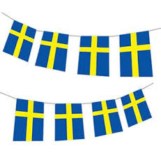 sweden bunting decorations flags for countries from around
