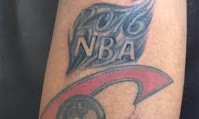 undeterred cleveland cavaliers fan has u00272015 nba champs u0027 tattoo