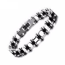 black stainless steel chain bracelet images Stainless steel bikes chain bracelet jpg