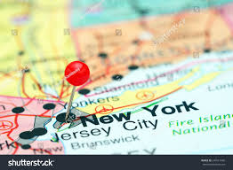 Yonkers New York Map by New York Pinned On Map Usa Stock Photo 247617490 Shutterstock