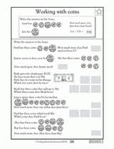 2nd grade 3rd grade math worksheets from dollars to cents