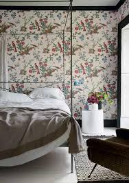 papier peint chambre adulte tendance papier peint bucolique dans la chambre parentale blanche