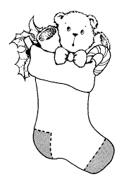 christmas stocking black and white clipart 2201263