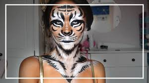 tiger halloween makeup tutorial shelingbeauty youtube