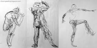gestures contour drawings myrtle beach art