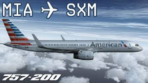 American Airlines Inflight Internet by Fsx Miami To Sint Maarten Aal1376 American Airlines
