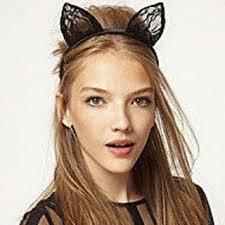 headband online fancy dress costume party black wired lace cat ears headband buy