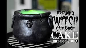 halloween witch pot brewing witch cauldron cake tutorial the sweet spot youtube