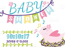 baby shower frames baby shower invitation vector card stock vector more images