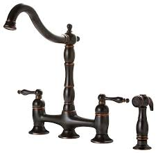 bridge kitchen faucet with side spray premier faucet charlestown two handle bridge style kitchen faucet