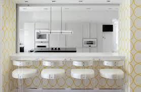 Wallpaper Designs For Kitchen Contemporary Wallpaper Designs Kitchen With Yellow Modern Range