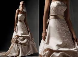 brown wedding dresses oleg cassini wedding dress 2013