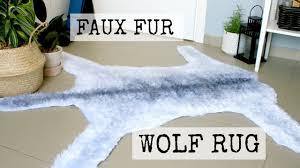 Wolf Area Rugs by Faux Wolf Fur Rug Diy Dandiy Youtube