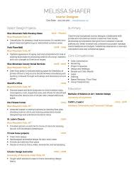 interior design cv examples and template