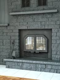 gray painted brick fireplace fireplace designs