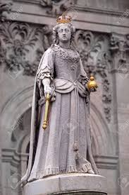 Queen Anne by Statue Of Queen Anne In Front Of St Paul Stock Photo Picture And