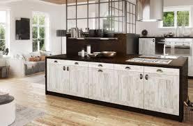 cuisine bois blanchi cuisine bois blanchi affordable cuisine bois inox blanche et m