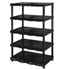 Shoe Cabinet Amazon 5 Tier Black Plastic Shoe Rack Shelf Amazon Co Uk Kitchen U0026 Home