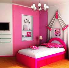 Girls Chandeliers Bedroom Terrific Pink Theme For Teen Girls Decor Using