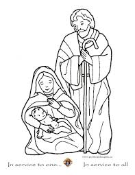mary joseph coloring pages getcoloringpages