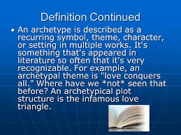 archetypal themes list archetypes in literature ppt video online download