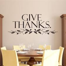 give thanks quote home decor stickers christian family wall