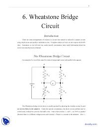 wheatstone bridge circuit electronics lab handout