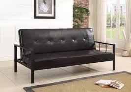 Klik Klak Sofa by Black Or Red Cotton Canvas Fabric Klik Klak Futon Sofa Bed Sleeper