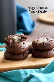 fudgy chocolate cookies with candied ginger gluten free vegan richa