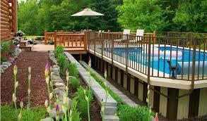 Inground Pool Ideas Semi Inground Pools Ideas Http Lanewstalk Com Above Ground