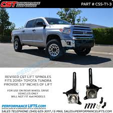 leveling kit for 2014 toyota tundra cst 2016 toyota tundra lift spindles 2wd only css t1 3
