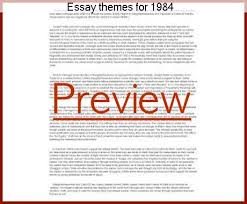theme essay for 1984 essay themes for 1984 term paper help