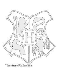 hogwarts crest stencil free stencil gallery