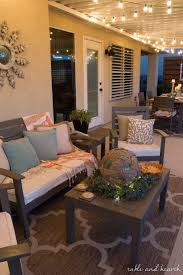 Backyard Living Room Ideas Coastal Summer Patio Decor Rustic Touches And A Little Whimsy