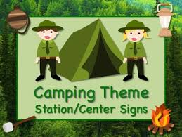 themed signs camping themed station center signs great classroom management s