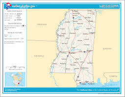 Usa Country Map by Usa Country Studies The State Of Mississippi