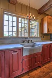 Kitchen Country Design Perfect Red Country Kitchen Cabinet Design Ideas For Small Space
