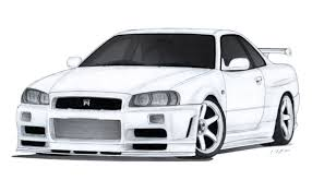 nissan skyline r34 paul walker nissan skyline gt r r34 drawing by vertualissimo on deviantart
