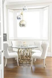 brass glass dining table gorgeous dining room features staggered brass glass and chrome