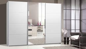 Schlafzimmer Schrank Mit Tv Schwebetürenschrank Kleiderschrank Ca 300 Cm Weiß Mit Spiegel