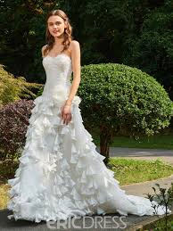 garden wedding dresses ericdress sweetheart a line garden wedding dress 13084493