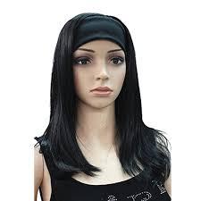 headband wigs amazon com onedor mix long 3 4 women s wigs hairpiece straight