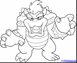 wonderful mario kart coloring pages printable bowser