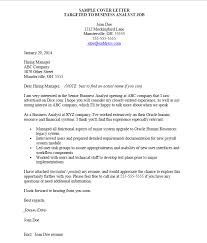 perfect targeted cover letter sample 48 in structure a cover