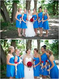 alfred angelo marine blue bridesmaid dresses and red roses once