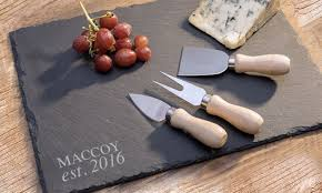 personalized cheese tray up to 83 personalized slate trays and home decor groupon