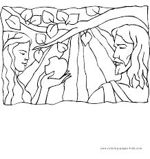adam eve apple bible story color religious